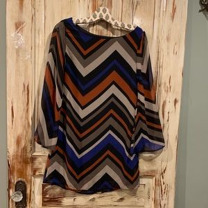 Auditions chevron bell sleeve dress
